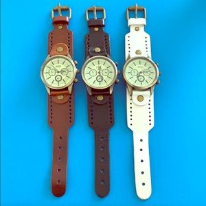 Accessories - Bundle of 3 Leather Vintage Style Watches!